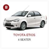 Toyota Etios CABS Chauffeur Drive