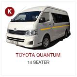 Toyota Quantum CABS Chauffeur Drive