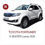 Toyota_fortuner CABS Chauffeur Drive